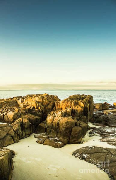 Stone Wall Photograph - Rocky Oceanscape by Jorgo Photography - Wall Art Gallery