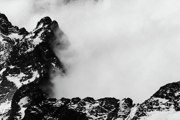 Photograph - Rocky Outcrop And Clouds 2 by James Brunker