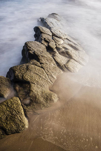 Northumbria Photograph - Rocky Outcrop by David Taylor
