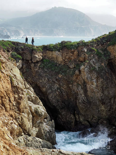Photograph - Rocky Point Hikers, Big Sur, California #30377 by John Bald