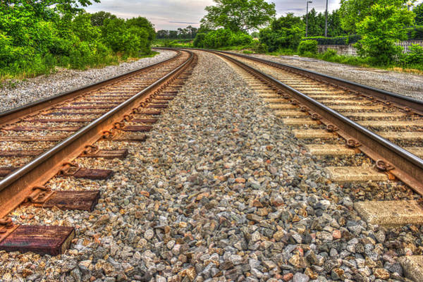 Ns Photograph - Rocky Railroad Rails by Reid Callaway