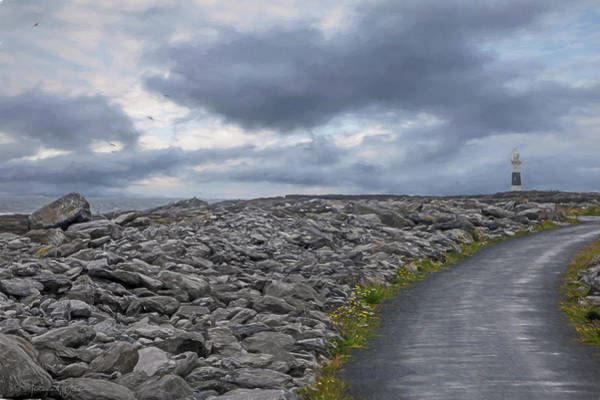 Photograph - Rocky Road To The Lighthouse by Teresa Wilson
