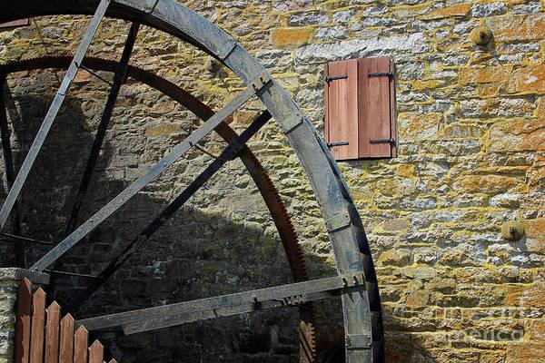 Photograph - Rocky Run Grist Mill Wheel by Karen Adams
