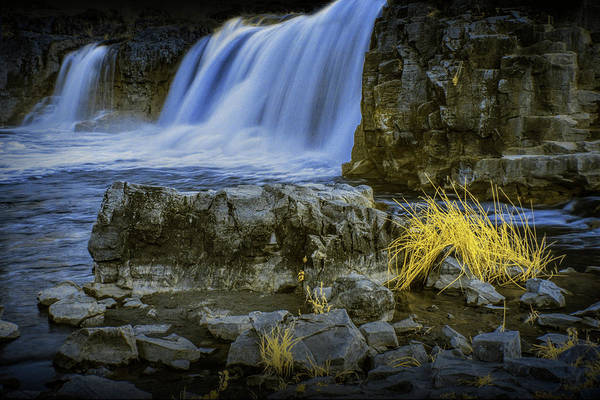 Photograph - Rocky Shore In Infrared By The Waterfalls At Falls Park In Sioux Falls South Dakota by Randall Nyhof
