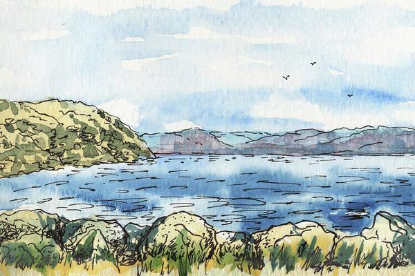 Painting - Rocky Shore Of The Bay by Irina Sztukowski