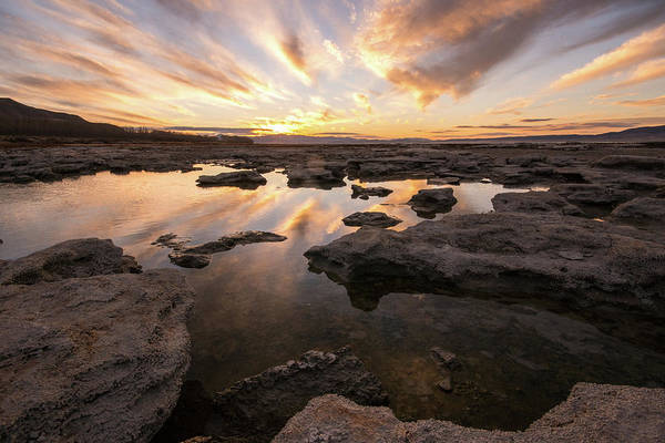 Photograph - Rocky Shores Of Utah Lake by Wesley Aston