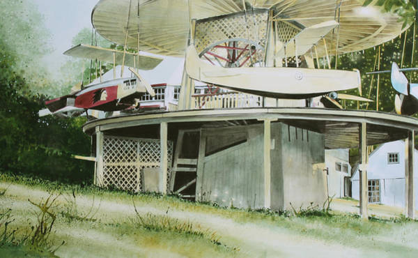 County Fair Painting - Rocky Springs Airplane Ride by Denny Bond