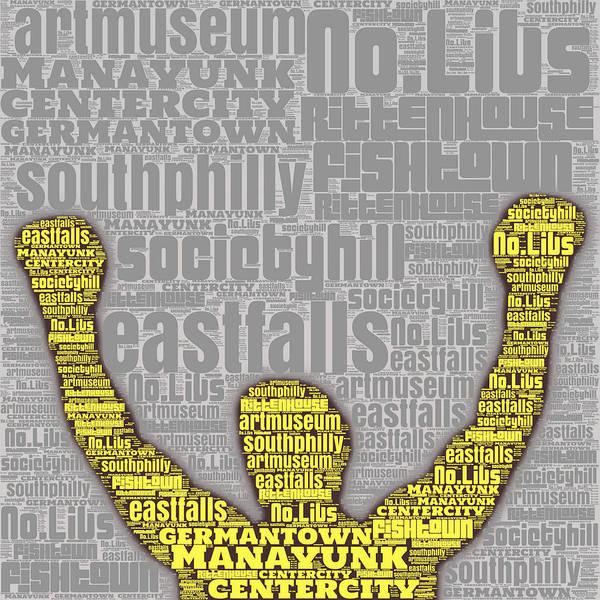 Rittenhouse Square Wall Art - Digital Art - Rocky Yellow Silhouette  by Brandi Fitzgerald