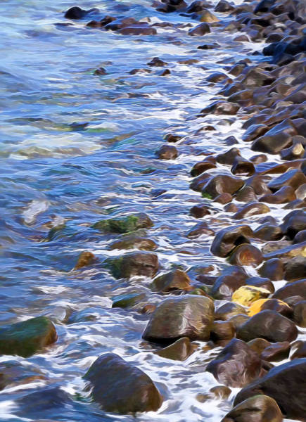 Mixed Media - Rocky Shores by Pamela Walton