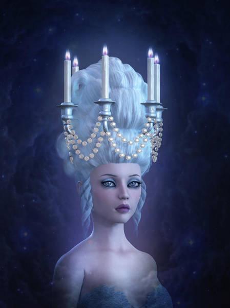 Hairdo Digital Art - Rococo Enlightenment by Britta Glodde