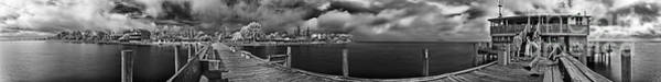 Rod And Reel Pier In Infrared Art Print