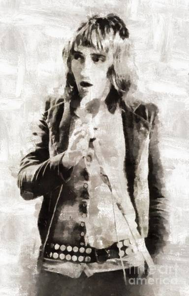 Wall Art - Painting - Rod Stewart, Musician by Mary Bassett