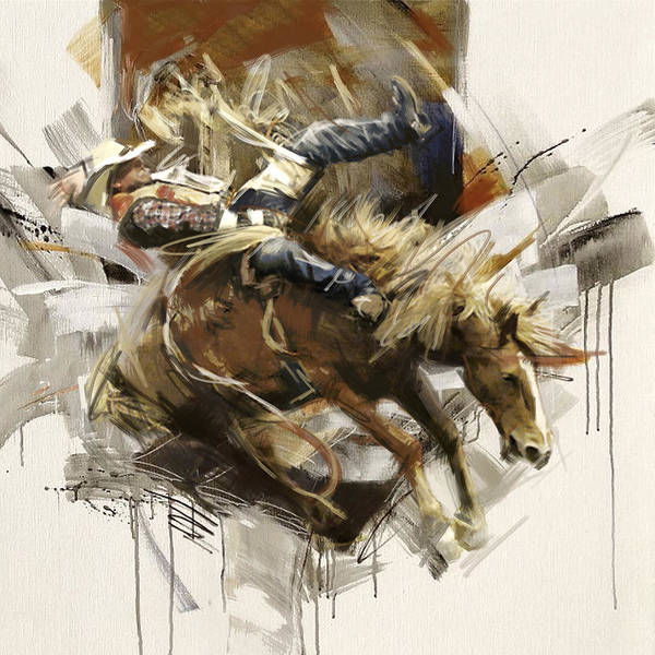 Arlington County Wall Art - Painting - Rodeo 10 by Maryam Mughal