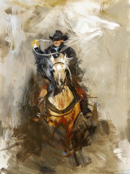 Arlington County Wall Art - Painting - Rodeo 12 by Maryam Mughal