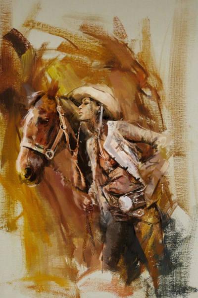 Arlington County Wall Art - Painting - Rodeo 21 by Maryam Mughal