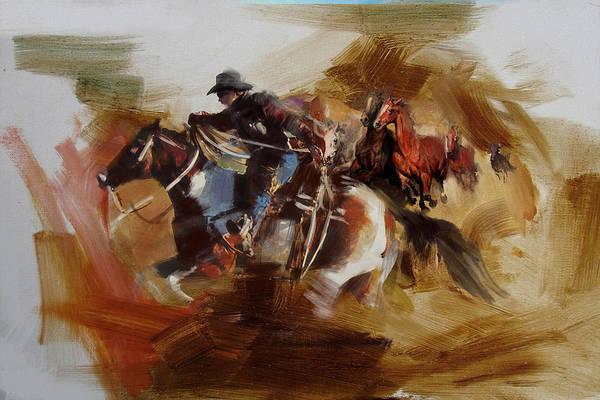 Arlington County Wall Art - Painting - Rodeo 25 by Maryam Mughal