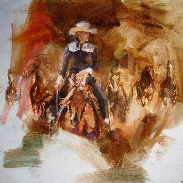 Arlington County Wall Art - Painting - Rodeo 26 by Maryam Mughal