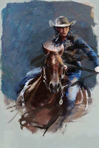 Arlington County Wall Art - Painting - Rodeo 34 by Maryam Mughal