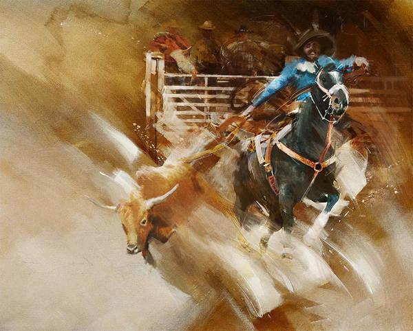 Arlington County Wall Art - Painting - Rodeo 35 by Maryam Mughal