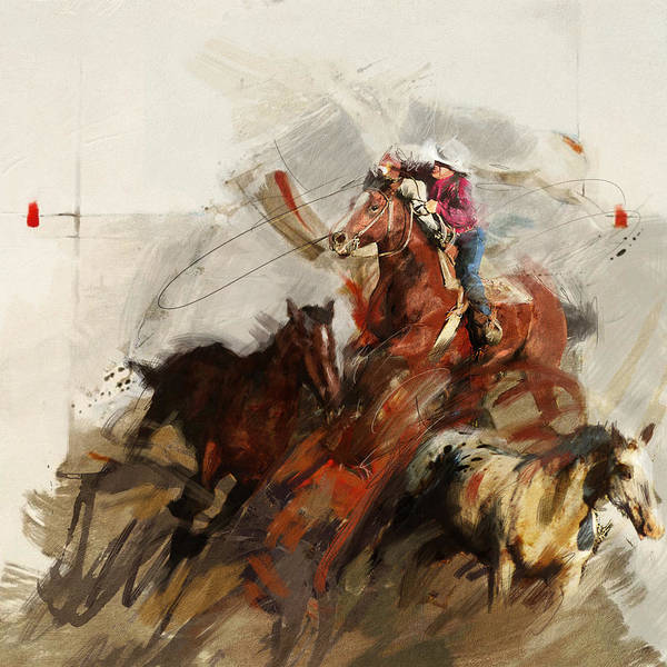 Wall Art - Painting - Rodeo 37 by Maryam Mughal