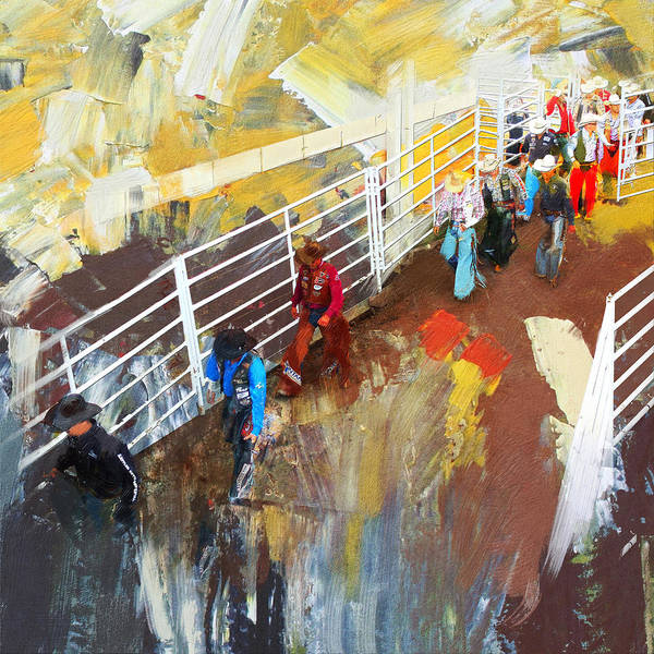 Houston Texas Painting - Rodeo 41 by Maryam Mughal