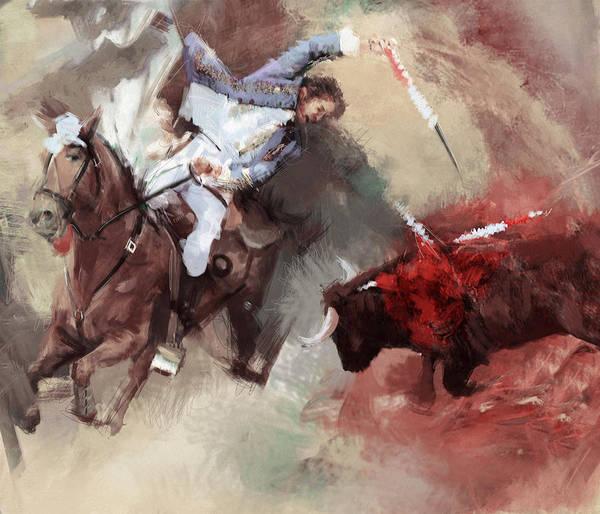Arlington County Wall Art - Painting - Rodeo 43b by Maryam Mughal