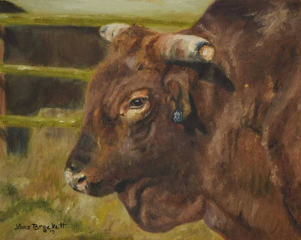 Painting - Rodeo Bull 3 by Lori Brackett