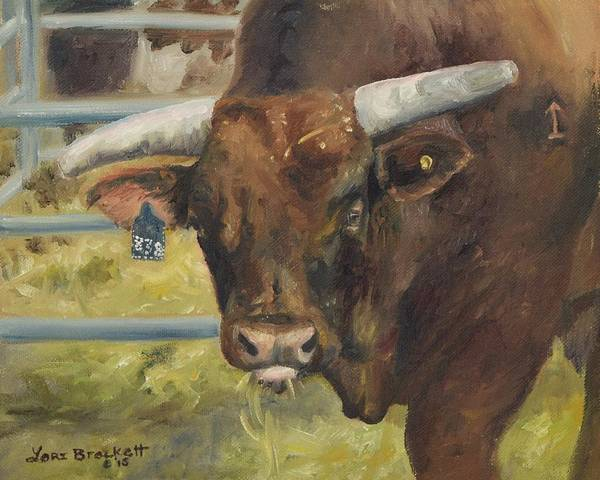 Painting - Rodeo Bull 5 by Lori Brackett