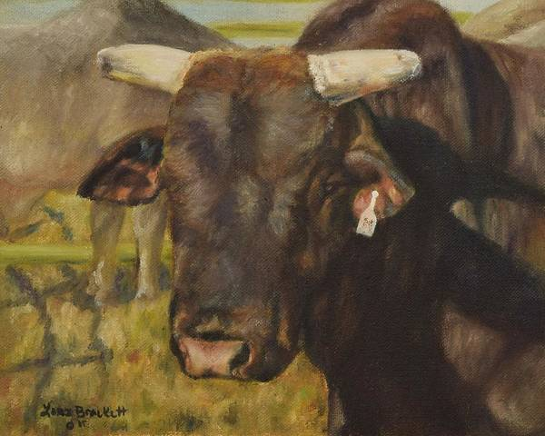 Painting - Rodeo Bull 9 by Lori Brackett