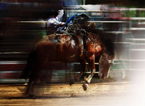 Roping Painting - Rodeo Days by Mark Courage
