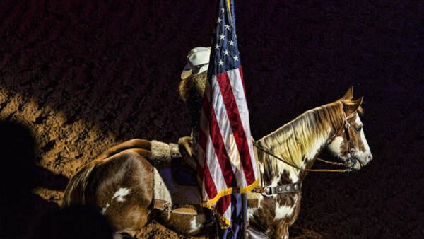 Ft Worth Wall Art - Photograph - Rodeo Patriotism by Stephen Stookey