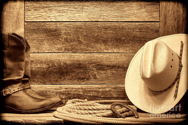 Photograph - Rodeo Still Life by American West Legend By Olivier Le Queinec