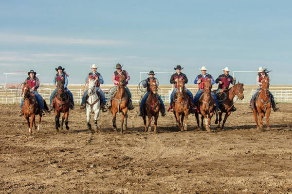 Wall Art - Photograph - Rodeo Team Riders by Todd Klassy