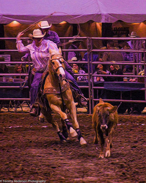 Norco Photograph - Rodeo Team Roping 1 by Tommy Anderson