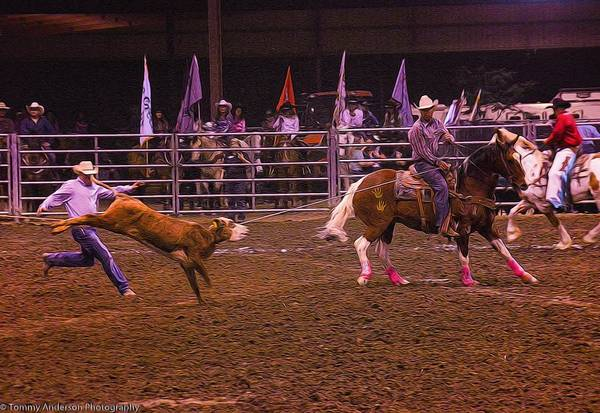 Norco Photograph - Rodeo Team Roping 3 by Tommy Anderson