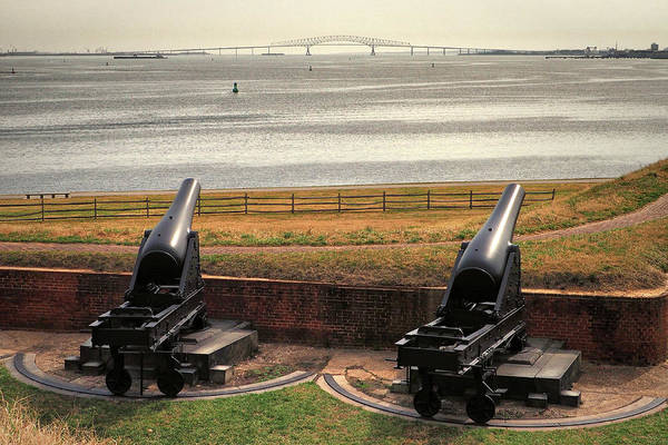 Photograph - Rodman Cannons At Fort Mchenry National Monument And Historic Shrine by Bill Swartwout Photography