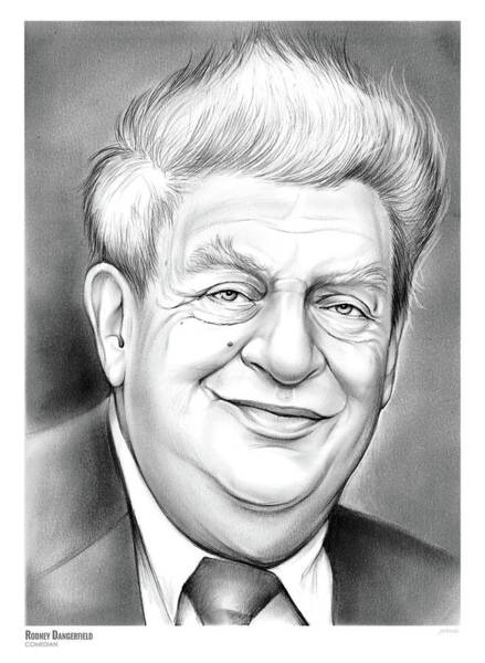 Actor Drawing - Rodney Dangerfield by Greg Joens