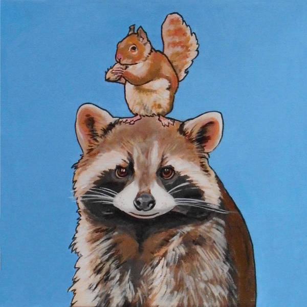 Rodney The Raccoon Art Print