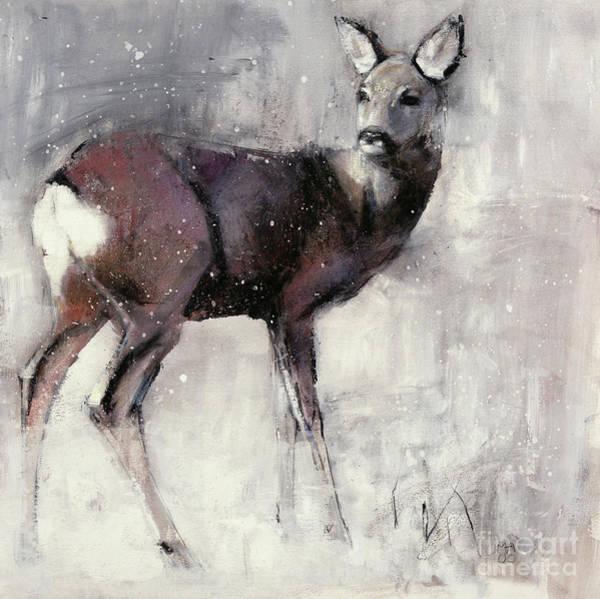 Mammal Mixed Media - Roe Doe by Mark Adlington