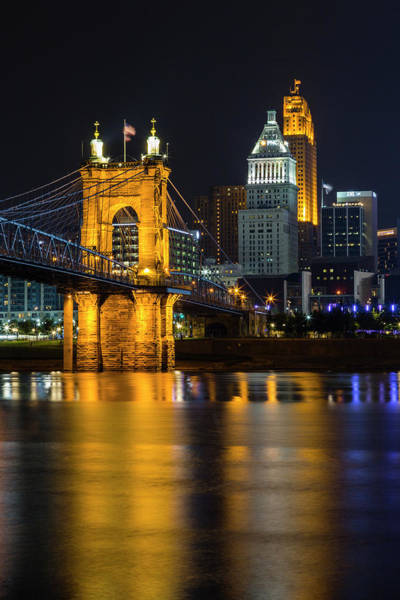 Wall Art - Photograph - Roebling Bridge Nights by Stephen Stookey