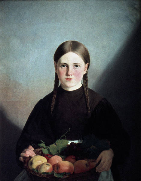 Photograph - Roed: Young Girl, 1837 by Granger
