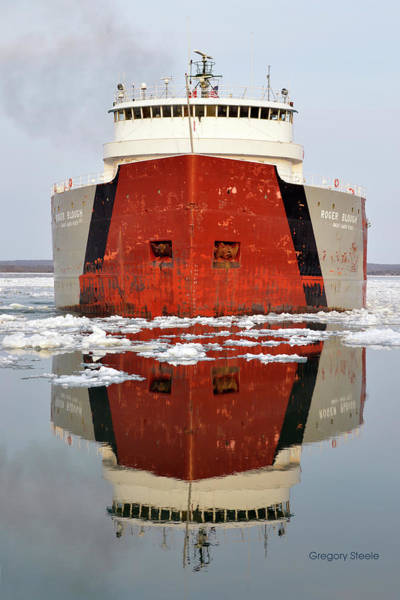 Freighter Wall Art - Photograph - Roger Blough by Gregory Steele