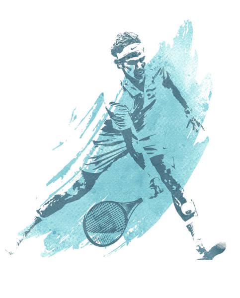 Wall Art - Mixed Media - Roger Federer Tennis Water Color Art 1 by Joe Hamilton