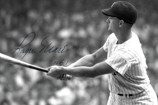 Wall Art - Photograph - Roger Maris, Hits Number 61, Autographed, Signed by Thomas Pollart