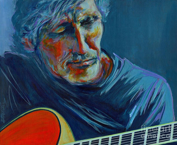 Painting - Roger Waters. Do You Think You Can Tell  by Tanya Filichkin