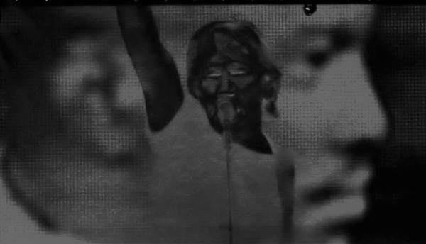 Photograph - Roger Waters Negative Red B W by Rob Hans