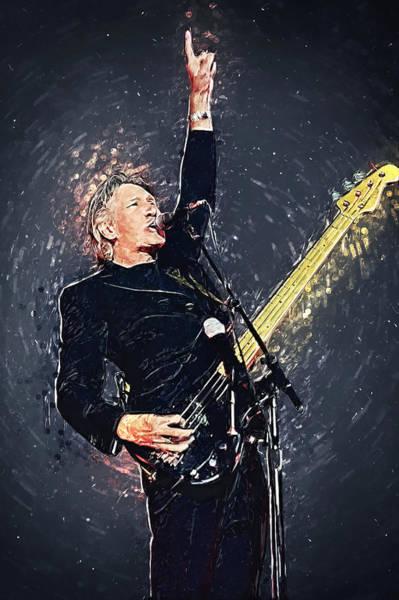 Digital Art - Roger Waters by Zapista Zapista