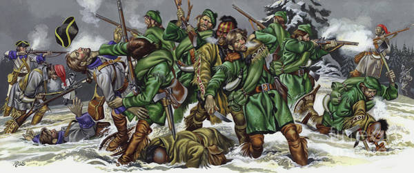Wounded Soldier Painting - Rogers Rangers Fought A Hand-to-hand Battle In The Snow With The French And Indians by Ron Embleton