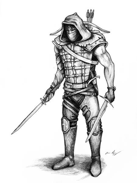 Wall Art - Drawing - Rogue by Aaron Spong