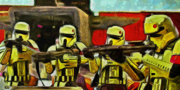 Star Wars 3 Wall Art - Painting - Rogue One Arrested - Pa by Leonardo Digenio